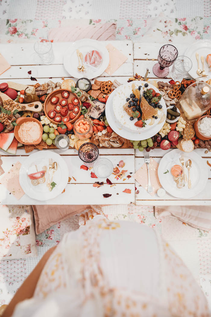 Grazing Table from a Lavish Baby Sprinkle on Kara's Party Ideas | KarasPartyIdeas.com (6)