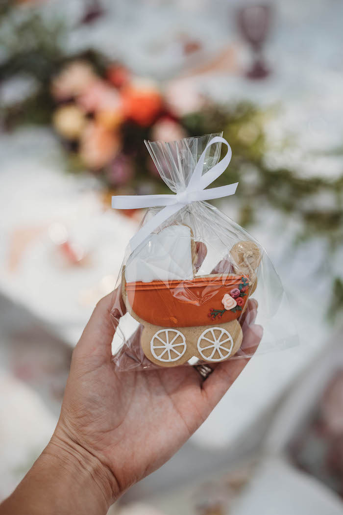 Baby Carriage Favor Cookie from a Lavish Baby Sprinkle on Kara's Party Ideas | KarasPartyIdeas.com (36)