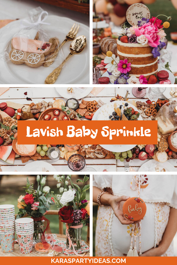 Lavish Baby Sprinkle via Kara's Party Ideas - KarasPartyIdeas.com