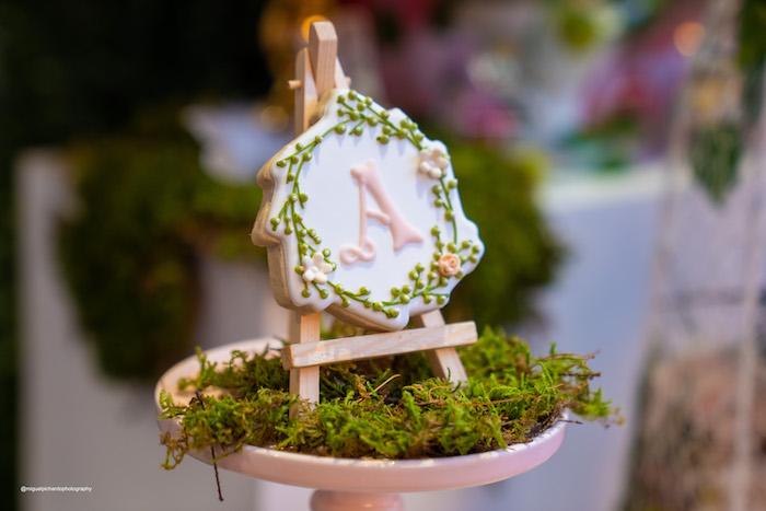 Custom Garden Cookie on an Easel from a Magical Garden Soiree on Kara's Party Ideas | KarasPartyIdeas.com (35)