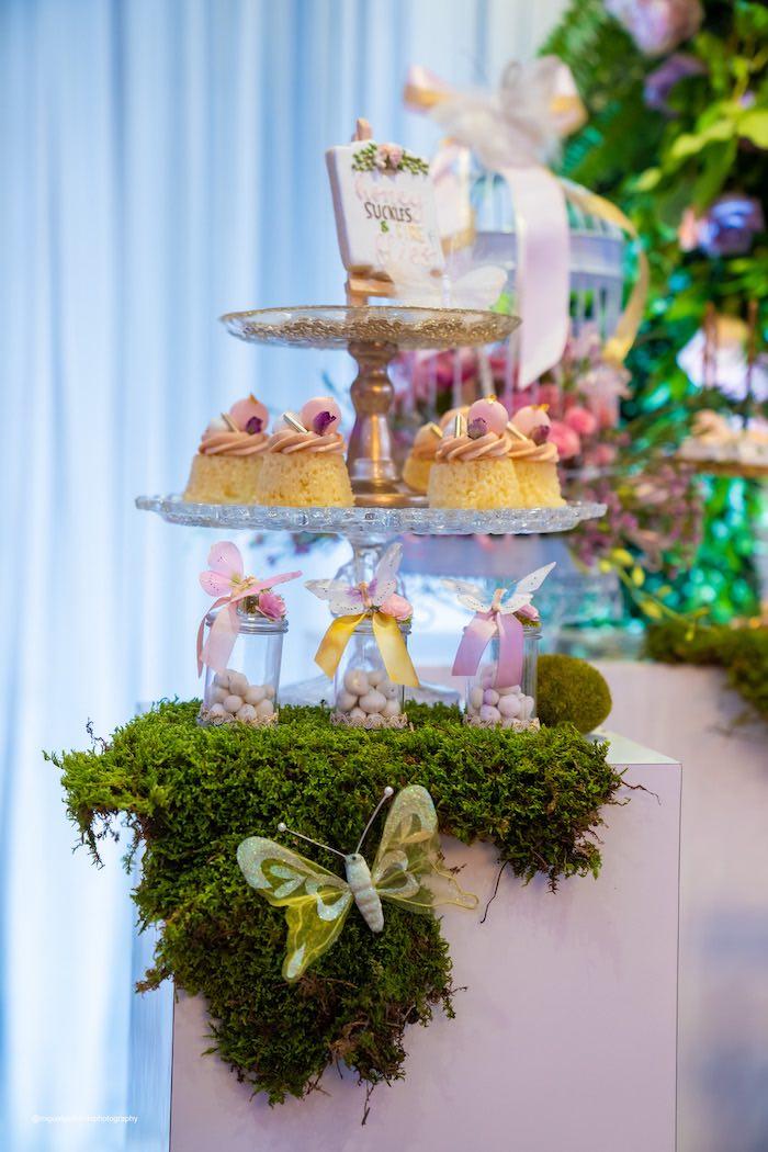 Garden Themed Dessert Pedestal from a Magical Garden Soiree on Kara's Party Ideas | KarasPartyIdeas.com (34)