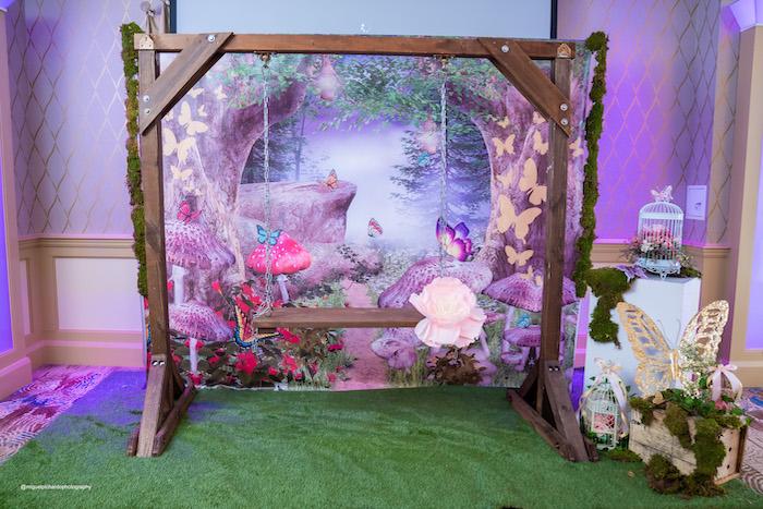 Enchanted Garden Swing Photo Booth from a Magical Garden Soiree on Kara's Party Ideas | KarasPartyIdeas.com (32)