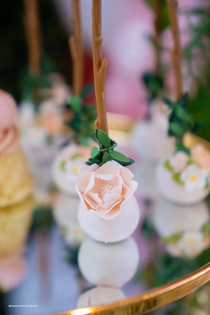 Flower Cake Pop from a Magical Garden Soiree on Kara's Party Ideas | KarasPartyIdeas.com (28)