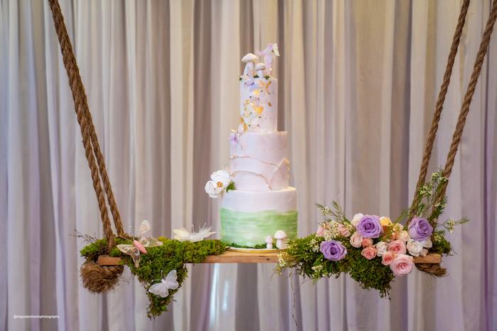 Swinging Garden-inspired Cake from a Magical Garden Soiree on Kara's Party Ideas | KarasPartyIdeas.com (46)