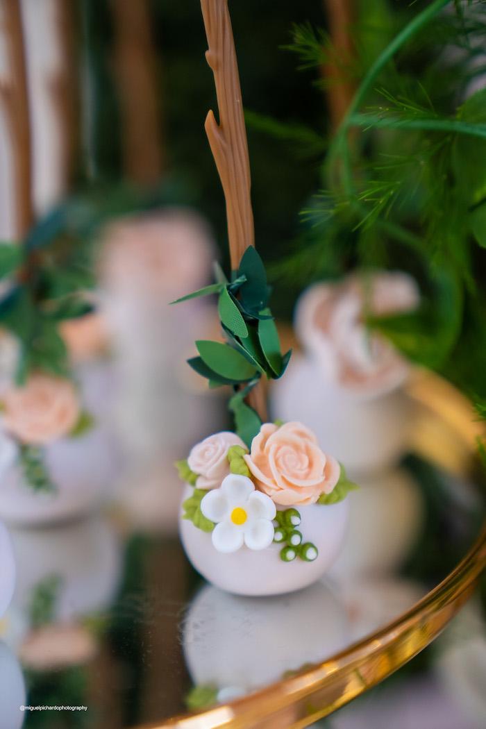 Flower Cake Pop from a Magical Garden Soiree on Kara's Party Ideas | KarasPartyIdeas.com (27)