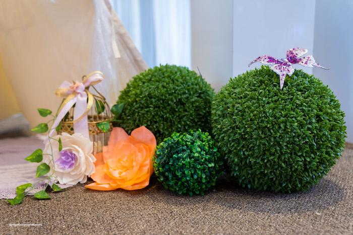 Garden Topiary from a Magical Garden Soiree on Kara's Party Ideas | KarasPartyIdeas.com (20)