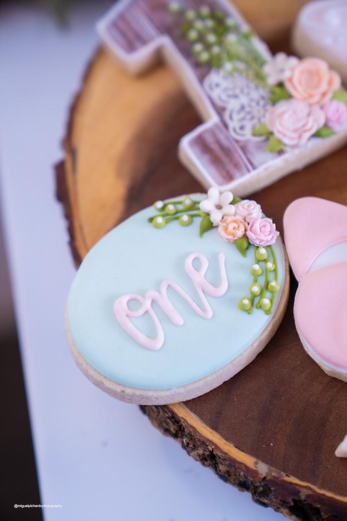 """One"" Garden Themed Cookie from a Magical Garden Soiree on Kara's Party Ideas | KarasPartyIdeas.com (18)"