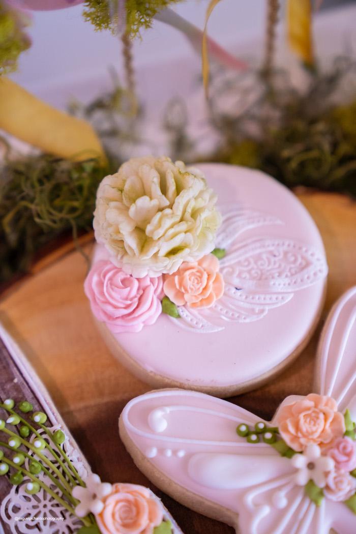 Flower Cookie from a Magical Garden Soiree on Kara's Party Ideas | KarasPartyIdeas.com (16)