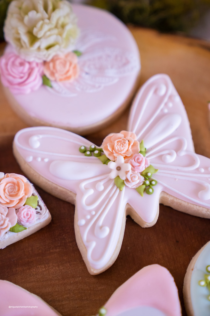 Butterfly Cookie from a Magical Garden Soiree on Kara's Party Ideas | KarasPartyIdeas.com (15)