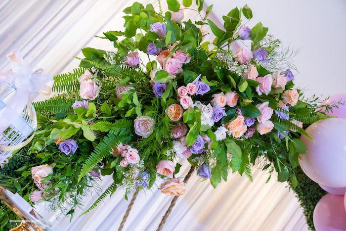 Floral Spray from a Magical Garden Soiree on Kara's Party Ideas | KarasPartyIdeas.com (8)