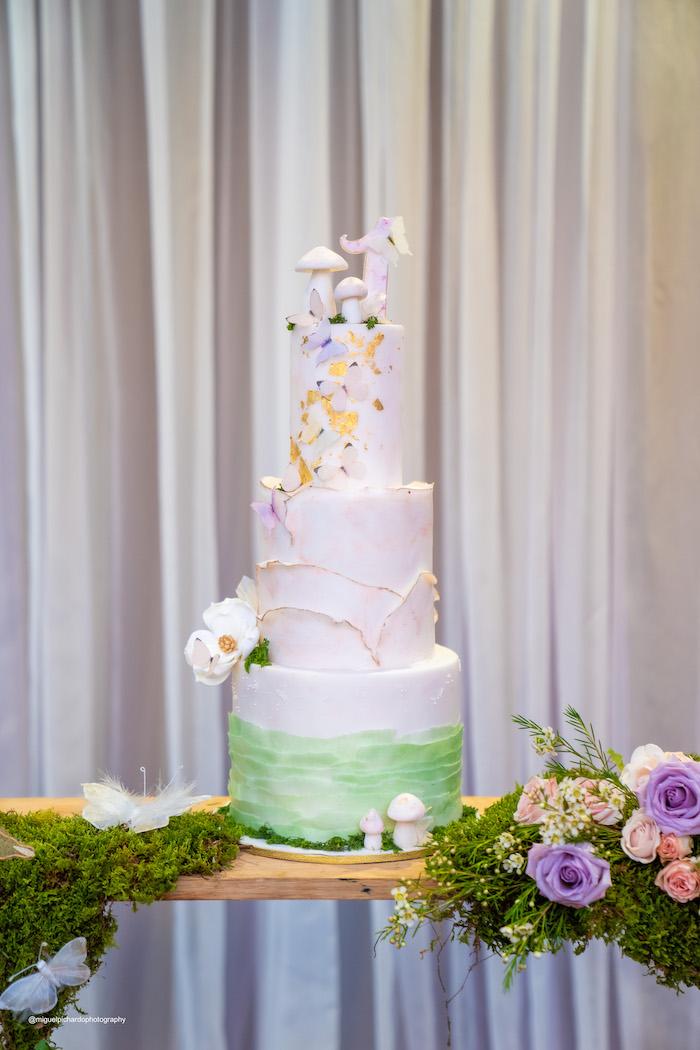Garden-inspired Cake from a Magical Garden Soiree on Kara's Party Ideas | KarasPartyIdeas.com (44)