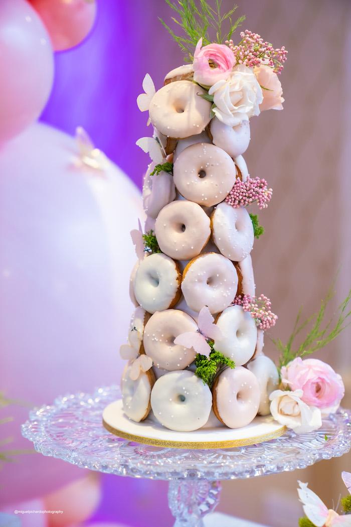 Garden Donut Tower from a Magical Garden Soiree on Kara's Party Ideas | KarasPartyIdeas.com (42)