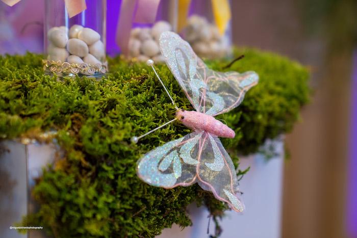 Moss + Butterfly Decoration from a Magical Garden Soiree on Kara's Party Ideas | KarasPartyIdeas.com (40)