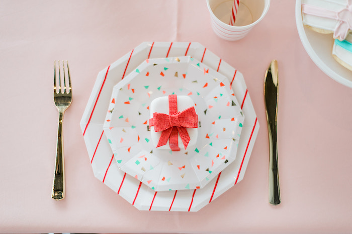 Table Setting from a Merry and Bright Christmas Holiday Party on Kara's Party Ideas | KarasPartyIdeas.com (21)