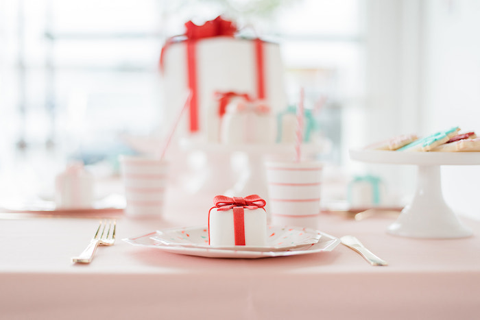 Table Setting from a Merry and Bright Christmas Holiday Party on Kara's Party Ideas | KarasPartyIdeas.com (19)