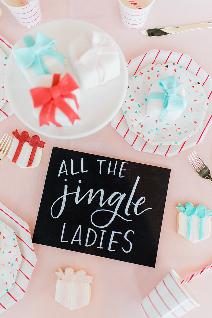 All The jingle Ladies Chalkboard Sign from a Merry and Bright Christmas Holiday Party on Kara's Party Ideas | KarasPartyIdeas.com (8)