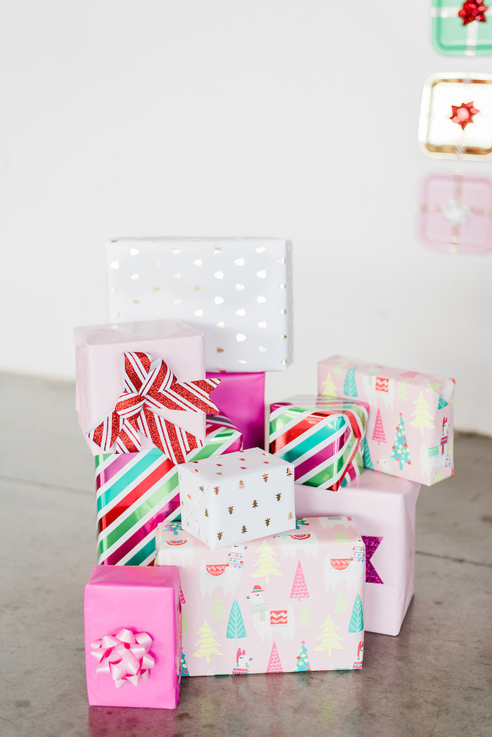 Wrapped Gifts from a Merry and Bright Christmas Holiday Party on Kara's Party Ideas | KarasPartyIdeas.com (39)