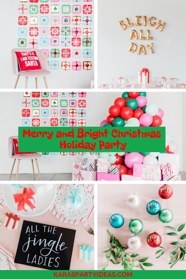 Merry and Bright Christmas Holiday Party via Kara's Party Ideas - KarasPartyIdeas.com