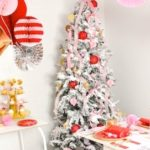 Modern Pink and Red Christmas Holiday Party by Kara's Party Ideas with Canary and King-19