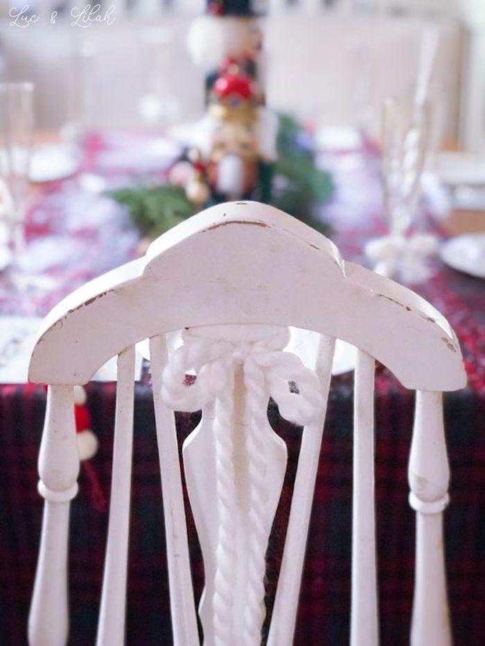 Vintage Wooden White Chair from a Nutcracker Birthday Party on Kara's Party Ideas | KarasPartyIdeas.com (14)