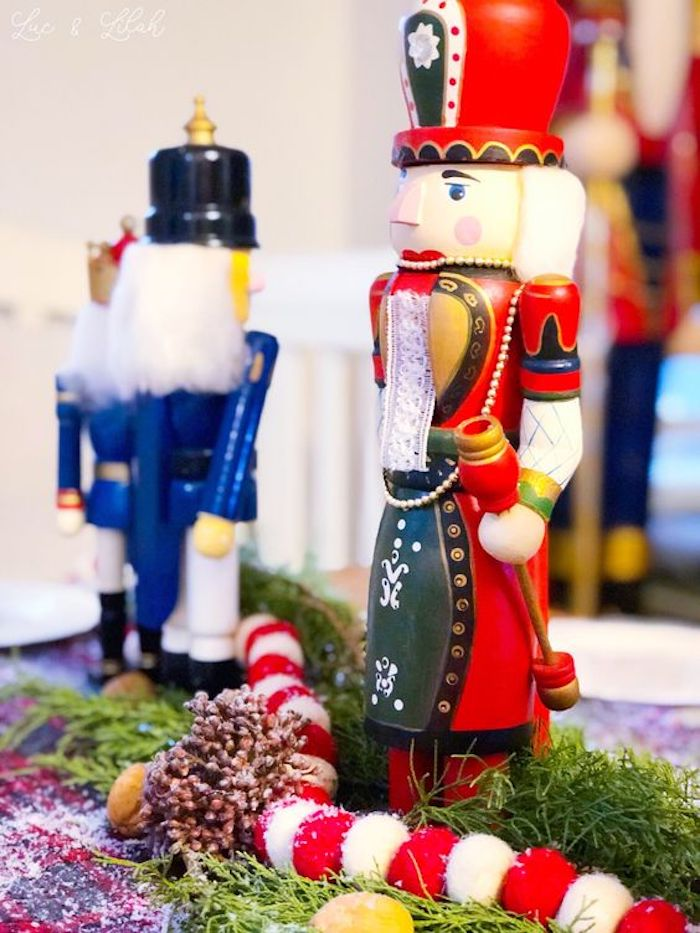 Nutcrackers and Table Bunting from a Nutcracker Birthday Party on Kara's Party Ideas | KarasPartyIdeas.com (26)