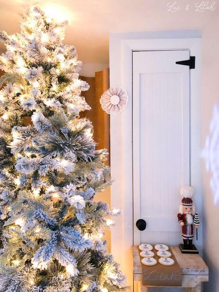 Flocked Christmas Tree from a Nutcracker Birthday Party on Kara's Party Ideas | KarasPartyIdeas.com (25)