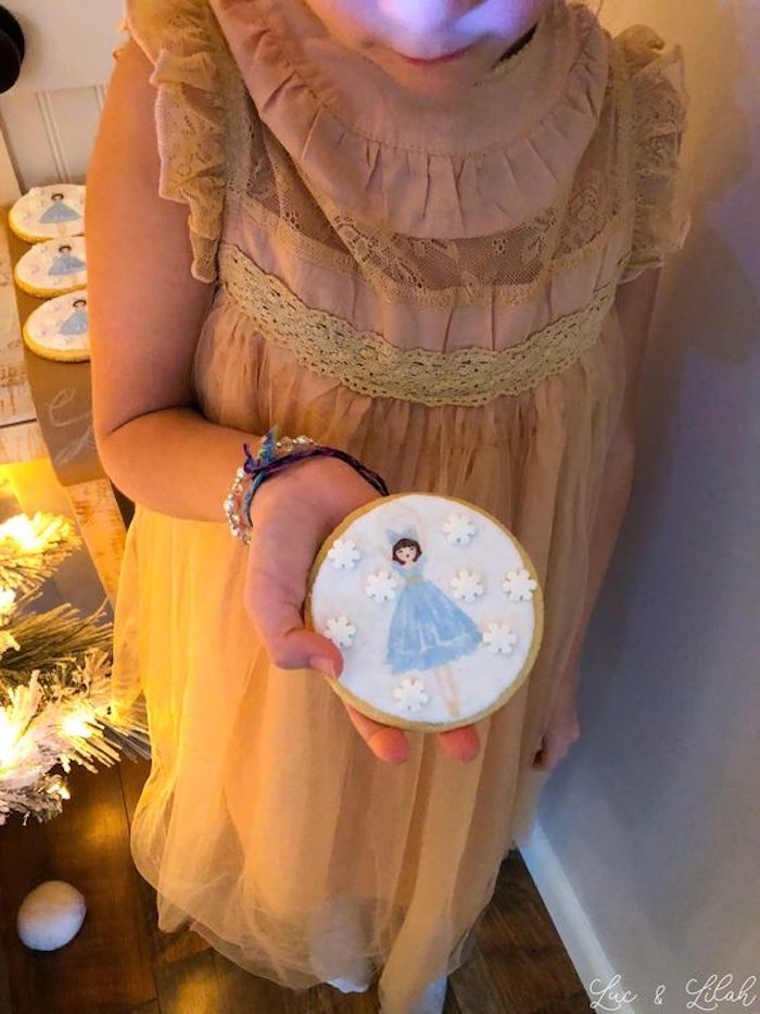 Sugar Plum Fairy Cookie from a Nutcracker Birthday Party on Kara's Party Ideas | KarasPartyIdeas.com (24)