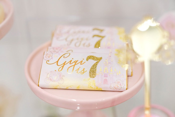 Custom-labeled Candy Bars from a Pink Princess Birthday Tea Party on Kara's Party Ideas | KarasPartyIdeas.com (27)
