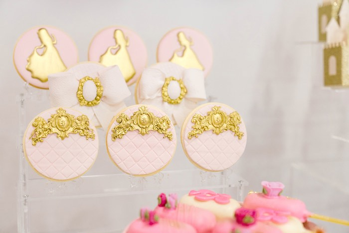 Cookies from a Pink Princess Birthday Tea Party on Kara's Party Ideas | KarasPartyIdeas.com (26)
