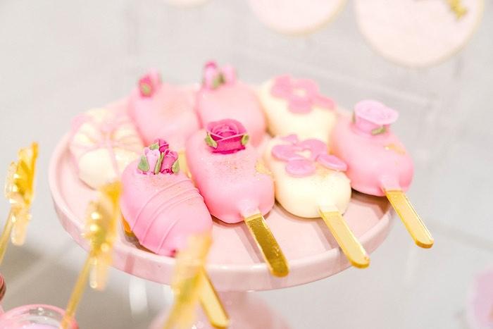 Cakesicles from a Pink Princess Birthday Tea Party on Kara's Party Ideas   KarasPartyIdeas.com (25)