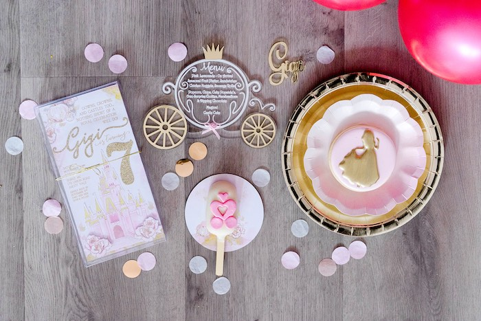 Invite + Favors from a Pink Princess Birthday Tea Party on Kara's Party Ideas | KarasPartyIdeas.com (36)