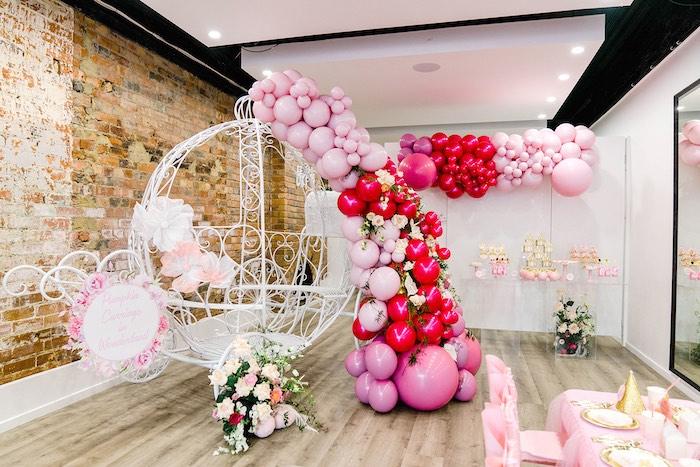 Pumpkin Carriage + Dessert Table from a Pink Princess Birthday Tea Party on Kara's Party Ideas   KarasPartyIdeas.com (16)