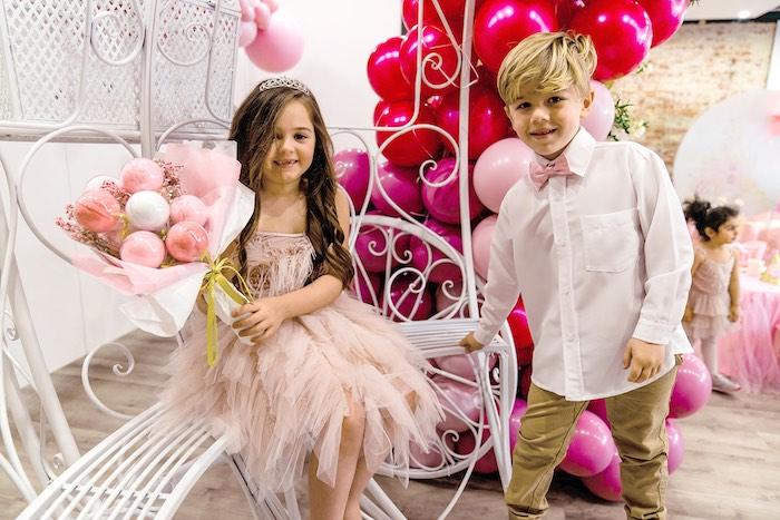 Cotton Candy Ball Floral Arrangement from a Pink Princess Birthday Tea Party on Kara's Party Ideas   KarasPartyIdeas.com (10)