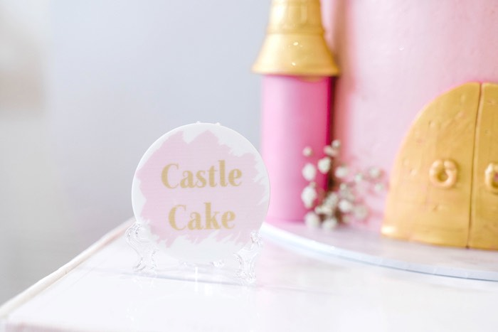 Circle Label from a Pink Princess Birthday Tea Party on Kara's Party Ideas | KarasPartyIdeas.com (33)