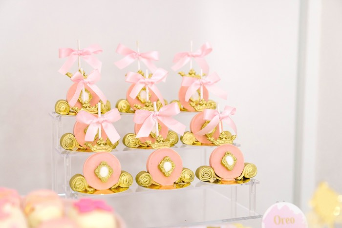 Carriage Pops from a Pink Princess Birthday Tea Party on Kara's Party Ideas | KarasPartyIdeas.com (29)