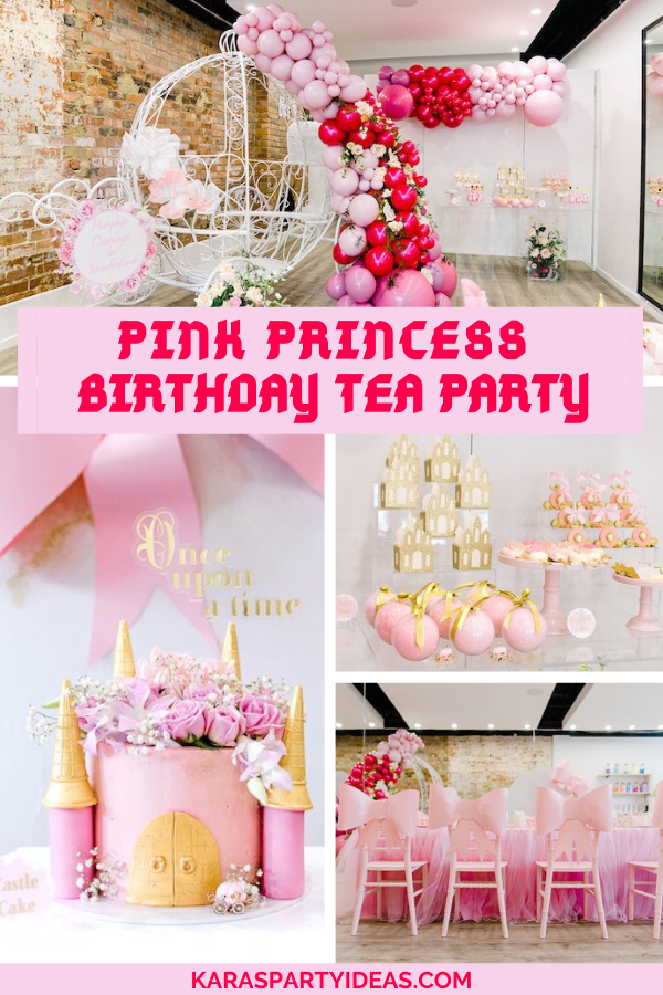 Pink Princess Birthday Tea Party via Kara's Party Ideas - KarasPartyIdeas.com