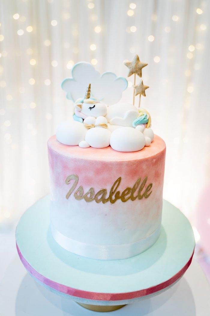 Unicorn Cake from a Sweet Unicorn Full Moon Party on Kara's Party Ideas | KarasPartyIdeas.com (6)