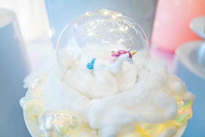 Unicorn + Cloud Table Centerpiece from a Sweet Unicorn Full Moon Party on Kara's Party Ideas | KarasPartyIdeas.com (15)