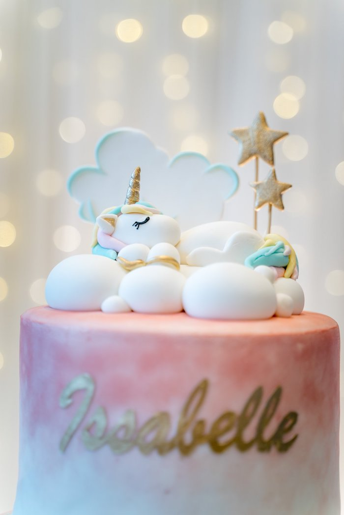 Unicorn Cake Top from a Sweet Unicorn Full Moon Party on Kara's Party Ideas | KarasPartyIdeas.com (11)