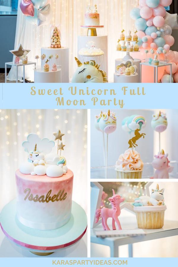 Sweet Unicorn Full Moon Party via Kara's Party Ideas - KarasPartyIdeas.com