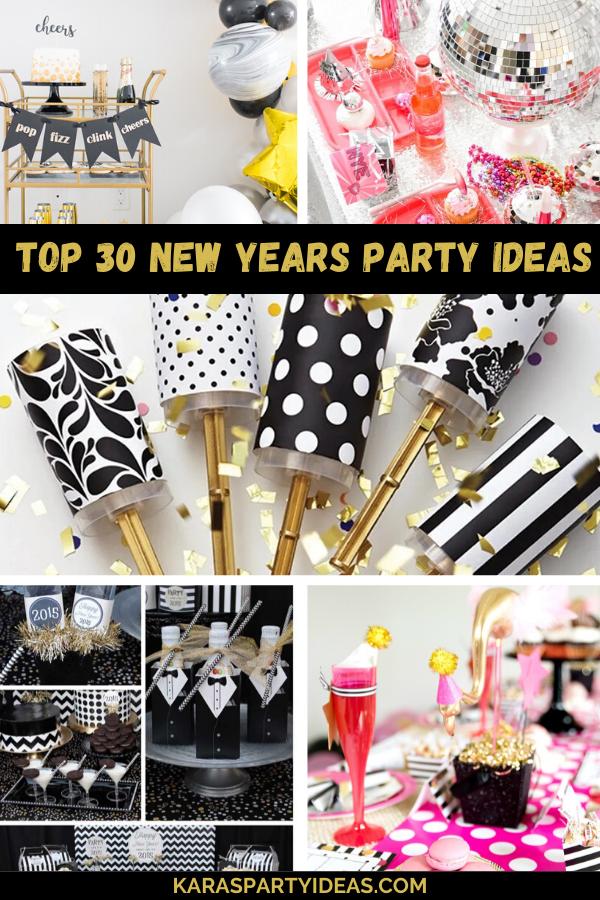 Top 30 New Years Party Ideas via Kara's Party Ideas - KarasPartyIdeas.com