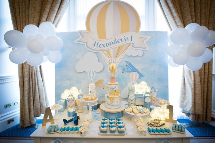 Vintage Travel + Hot Air Balloon Party on Kara's Party Ideas | KarasPartyIdeas.com (9)