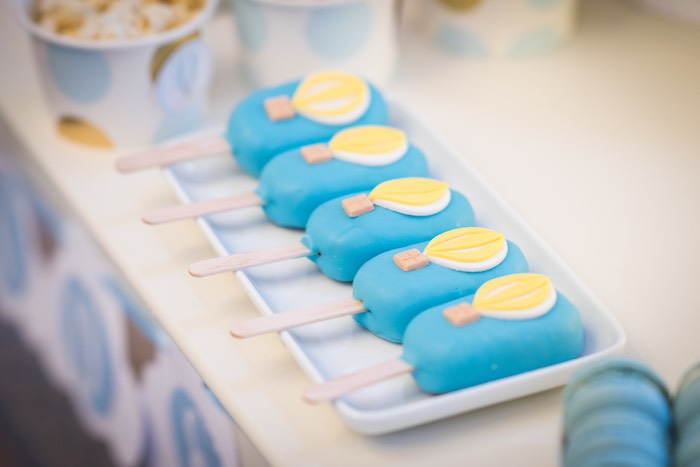 Hot Air Balloon Cakesicles from a Vintage Travel + Hot Air Balloon Party on Kara's Party Ideas | KarasPartyIdeas.com (23)