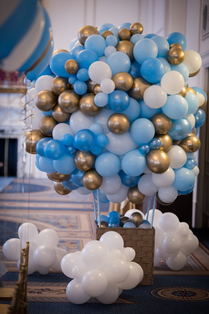 Balloon Hot Air Balloon from a Vintage Travel + Hot Air Balloon Party on Kara's Party Ideas | KarasPartyIdeas.com (19)