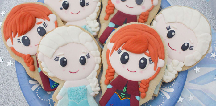 Elsa and Anna Cookie Tutorial on Kara's Party Ideas | KarasPartyIdeas.com