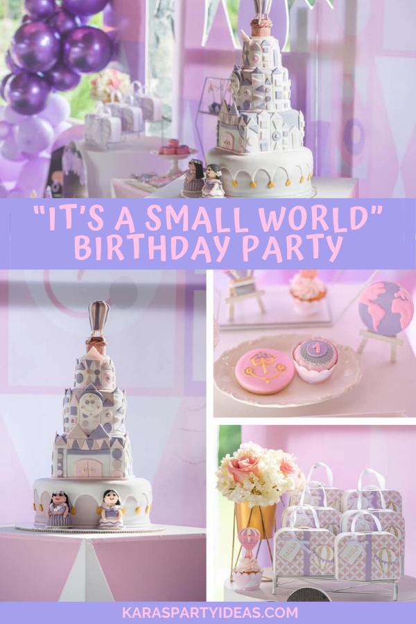 """It's a Small World"" Birthday Party via Kara's Party Ideas - KarasPartyIdeas.com"
