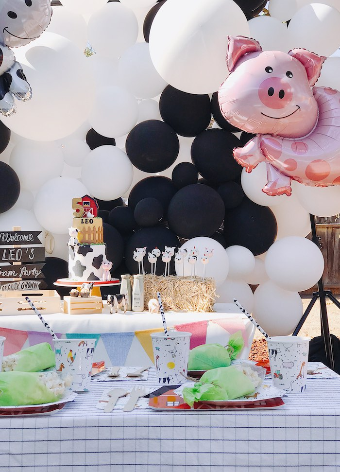 Modern Farm Birthday Party on Kara's Party Ideas | KarasPartyIdeas.com