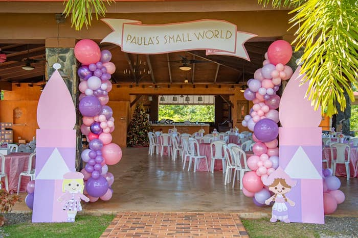 """It's a Small World"" inspired Party Entrance from an ""It's a Small World"" Birthday Party on Kara's Party Ideas 