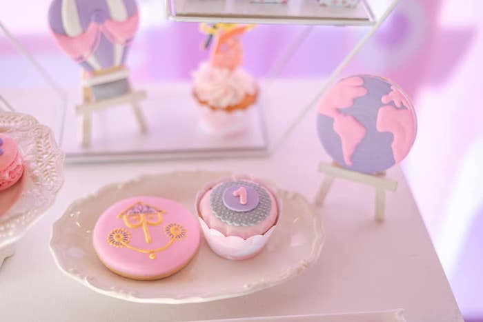 """It's a Small World"" Inspired Desserts from an ""It's a Small World"" Birthday Party on Kara's Party Ideas 