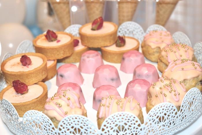 Pink Dessert Platter from an Arctic Wonderland Birthday Party on Kara's Party Ideas   KarasPartyIdeas.com (12)